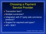 choosing a payment service provider