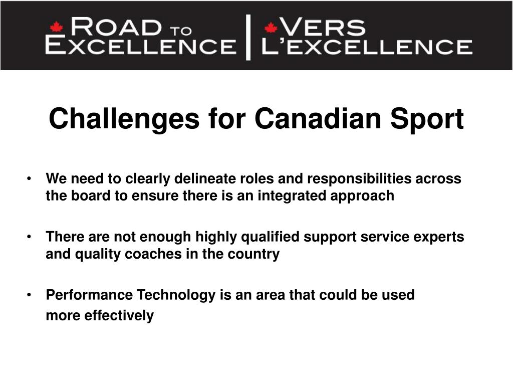Challenges for Canadian Sport