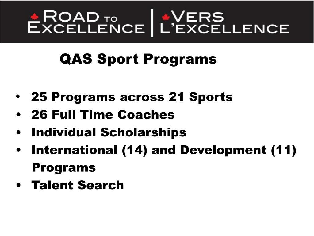 QAS Sport Programs