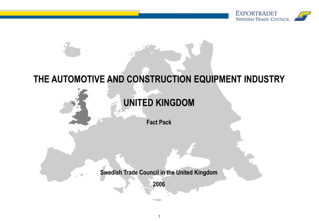 the automotive and construction equipment industry united kingdom fact pack l.