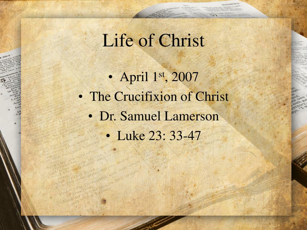 life of christ l.