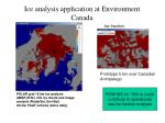 ice analysis application at environment canada