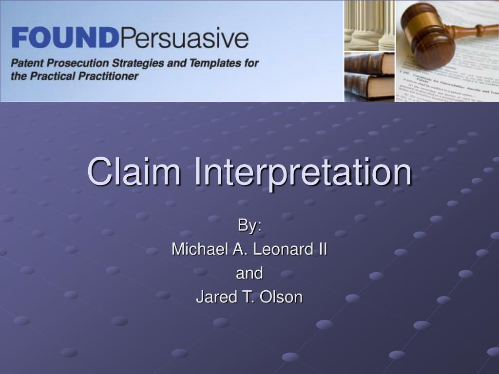 claim interpretation l.