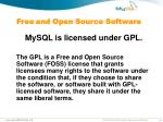 free and open source software
