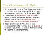 claude levi strauss 3 myth