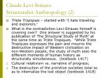 claude levi strauss structuralist anthropology 2