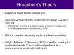 broadbent s theory1
