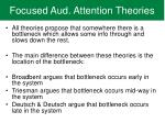 focused aud attention theories