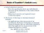 basics of examiner s analysis cont2