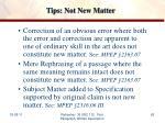 tips not new matter