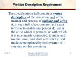 written description requirement
