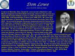 don lowe