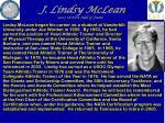 j lindsy mclean