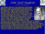 john jack redgren