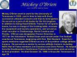 mickey o brien