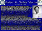 robert m bobby barton