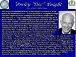 wesley doc knight