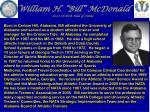 william h bill mcdonald