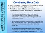 combining meta data
