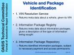 vehicle and package identification