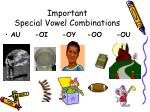 important special vowel combinations