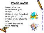 phonic myths