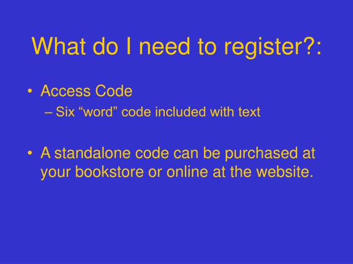 what do i need to register n.