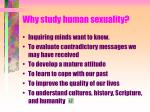 why study human sexuality