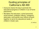 guiding principles of california s ab 490