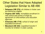other states that have adopted legislation similar to ab 490