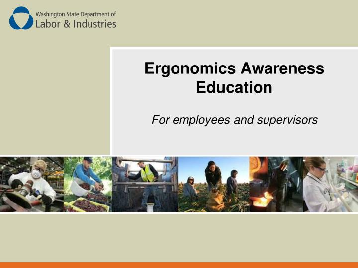 ergonomics awareness education n.