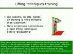 lifting techniques training45