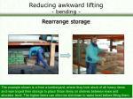 reducing awkward lifting bending32