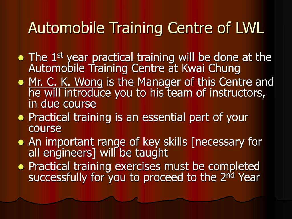 Automobile Training Centre of LWL