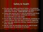 safety health