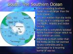 south the southern ocean