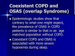 coexistent copd and osas overlap syndrome