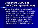 coexistent copd and osas overlap syndrome16