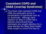 coexistent copd and osas overlap syndrome17