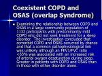 coexistent copd and osas overlap syndrome18