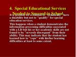4 special educational services needed to succeed in school