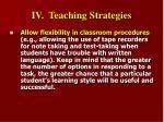 iv teaching strategies30