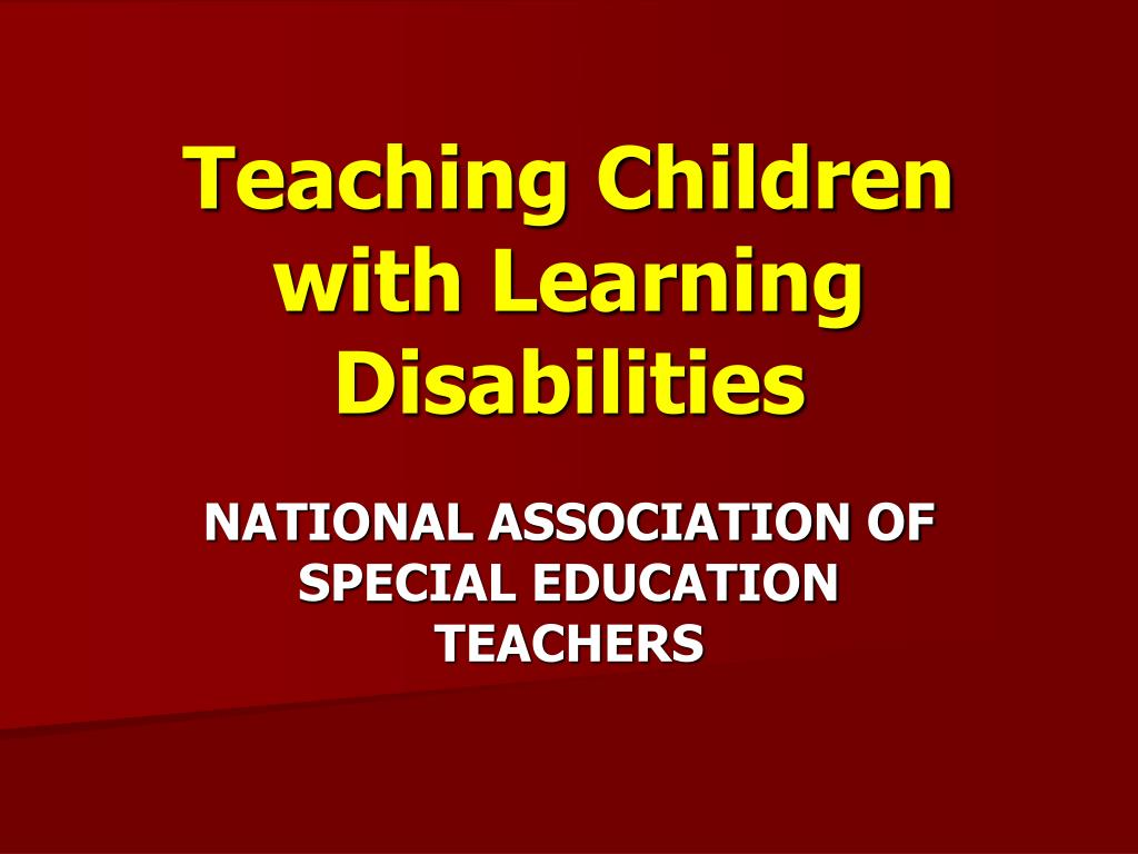 teaching children with learning disabilities l.