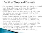 depth of sleep and enuresis