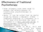 effectiveness of traditional psychotherapy