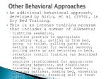 other behavioral approaches