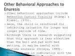 other behavioral approaches to enuresis