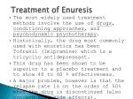 treatment of enuresis