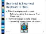 emotional behavioral responses to stress