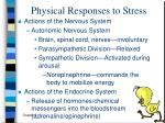 physical responses to stress